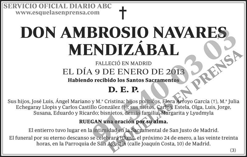 Ambrosio Navares Mendizábal